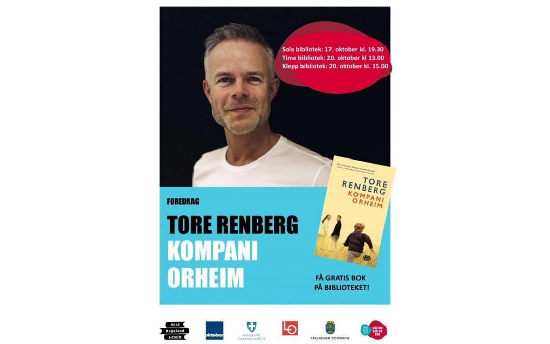 Forfatterbesøk av Tore Renberg