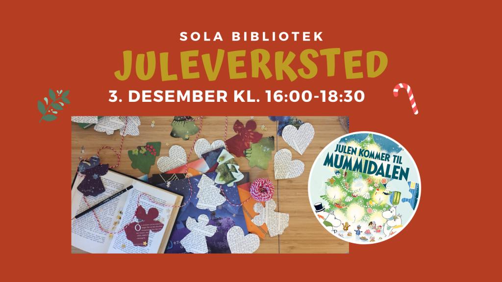 Juleverksted på Sola bibliotek