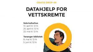 Datahjelp for vettskremte - gratis drop-in på Tananger @ Tananger filial