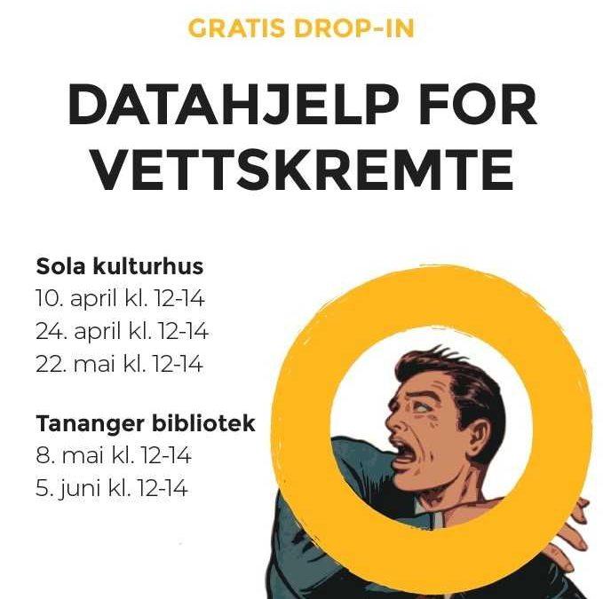 Datahjelp for vettskremte på Sola og Tananger